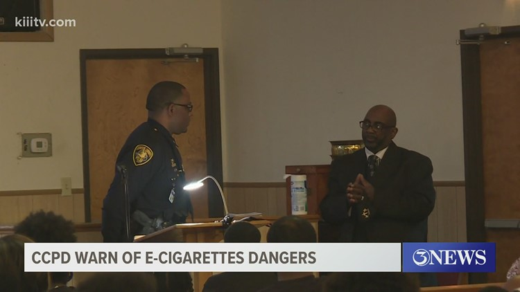 Corpus Christi Police Officers and church hold event to warn of E-cigarette dangers