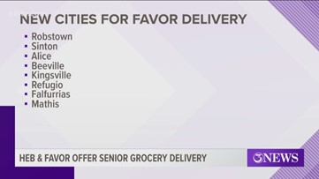 H-E-B and Favor offer senior grocery delivery