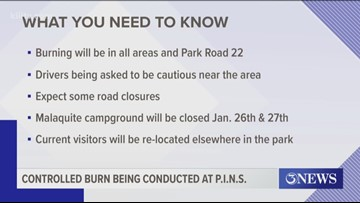 Controlled burns to be conducted the next few days at Padre Island National Seashore