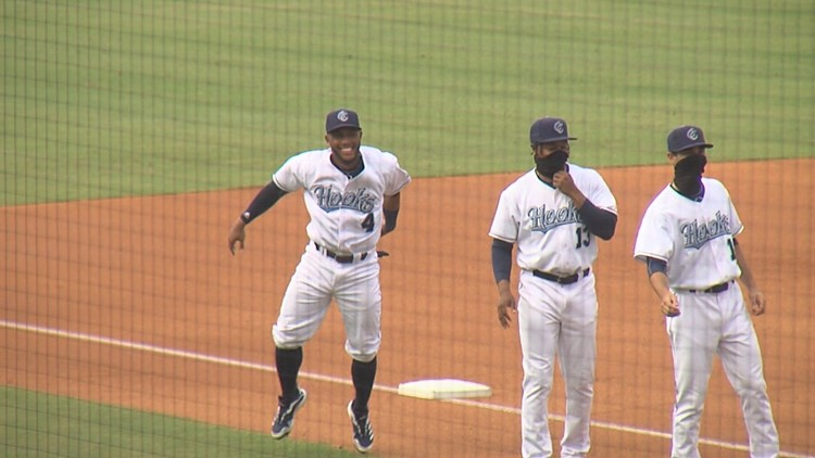 Hooks fall in season opener after year and a half away