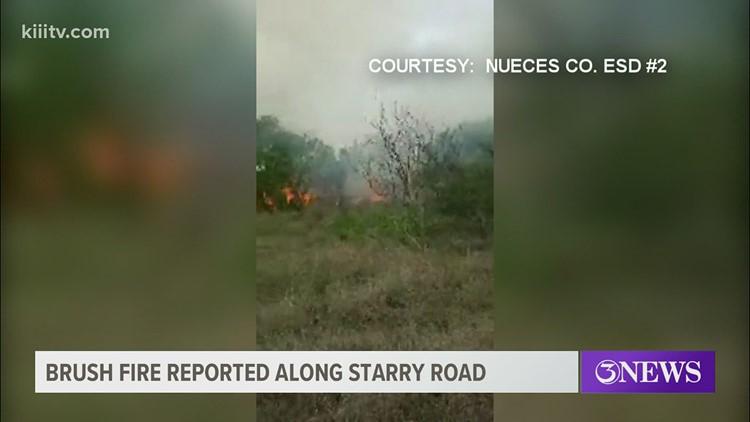 Large brush fire near the Starry Shooting Range on Yorktown