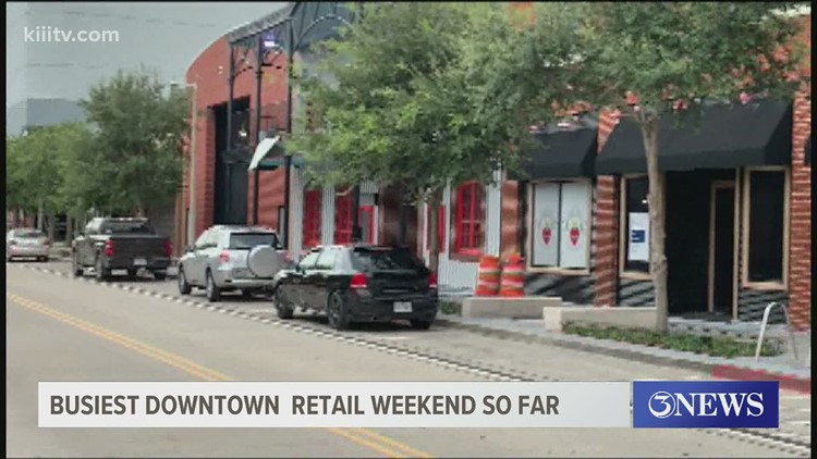 Downtown businesses see busiest weekend so far