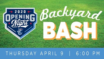 Hooks to hold Opening Night Backyard Bash Livestream