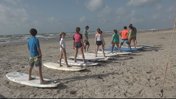 Port Aransas surf camp caters to children in military families