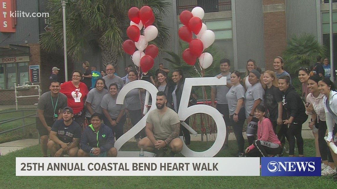 Coastal Bend residents participate in annual heart walk, donation record broken