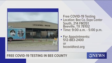 Mobile coronavirus testing for Beeville, Bee County this weekend
