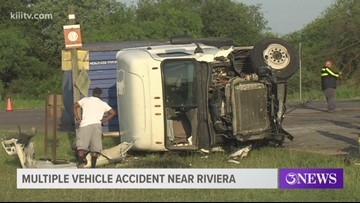 Multiple vehicles involved in accident on Highway 77 near Riviera, Texas