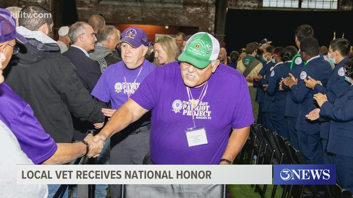 Coastal Bend Vietnam Veteran receives award for self-sacrifice, community involvement
