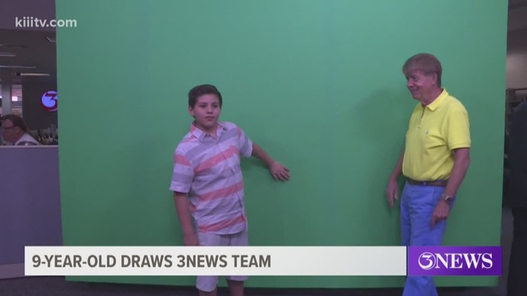 Local 9-year-old draws 3News team