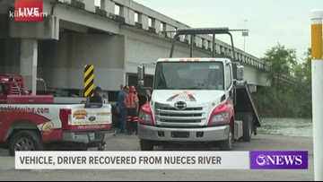 Vehicle, driver recovered from Nueces River following overnight crash
