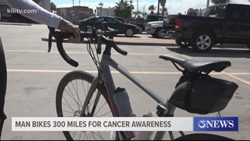 Man cycles over 300 miles to raise cancer awareness