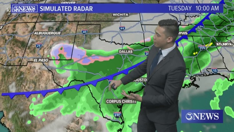 Sunny Sunday; Cold front Tuesday
