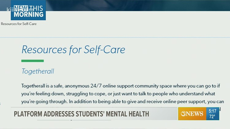 TAMU-CC offers online platform to support students' mental health