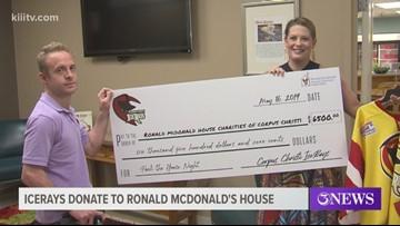 Corpus Christi IceRays donate to Ronald McDonald House Charities