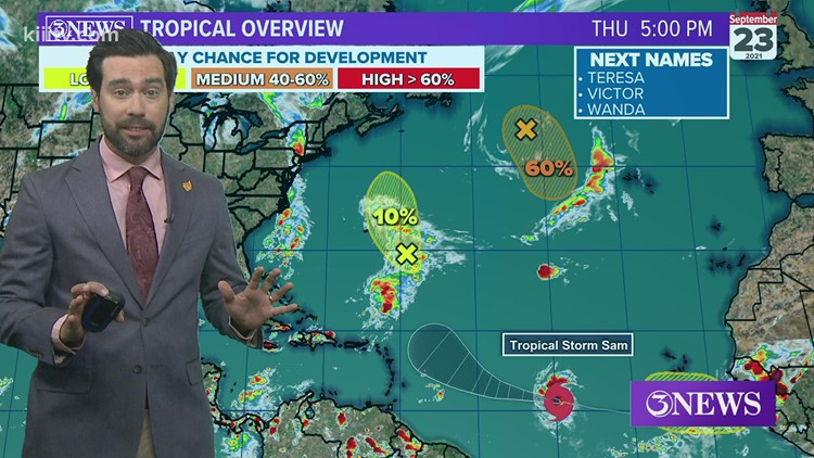 TROPICAL UPDATE: Sam forecast to become a major hurricane in the Atlantic