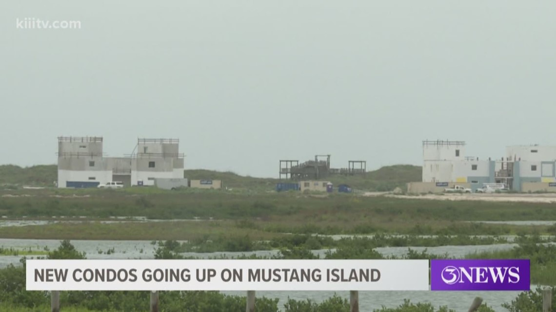 New condos being build on Mustang Island, should be open next spring