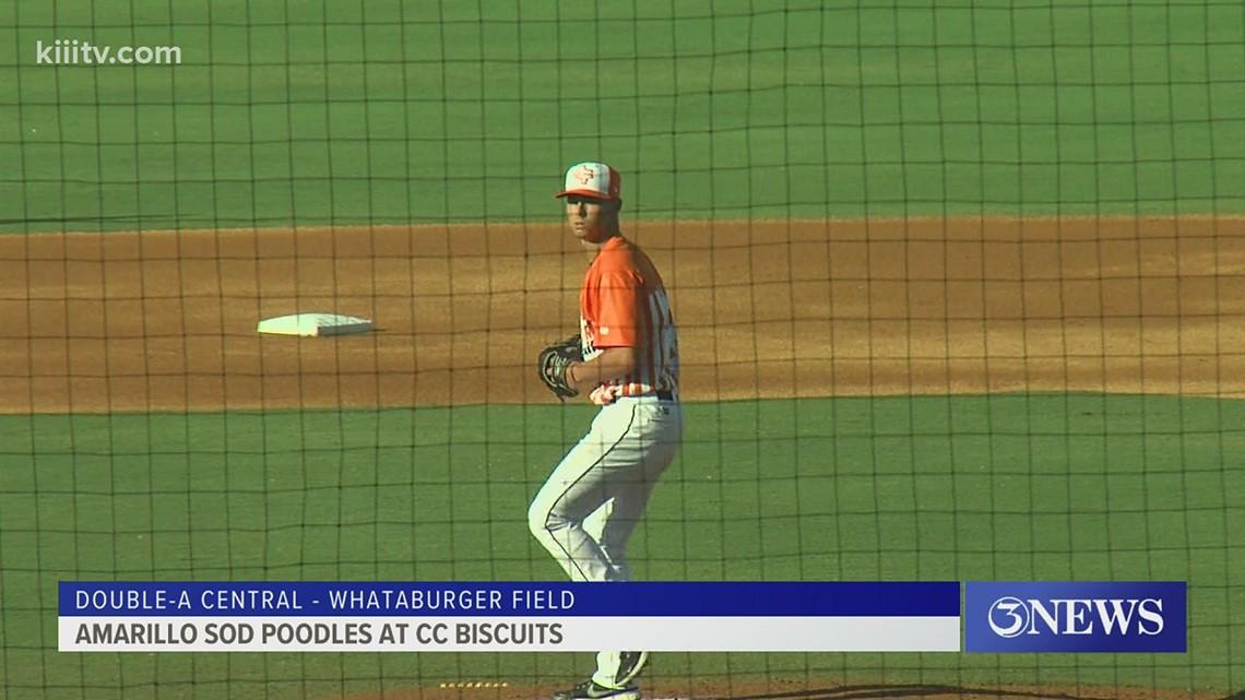 Endersby helps Corpus Christi snap losing streak in Double-A debut