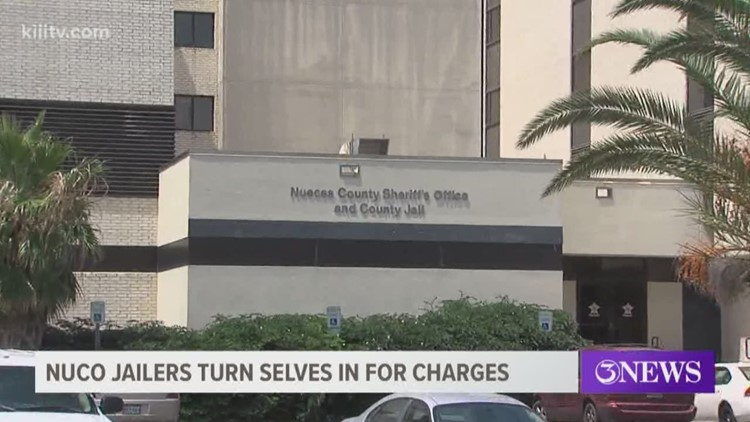 Recently indicted Nueces County jailers turn themselves in