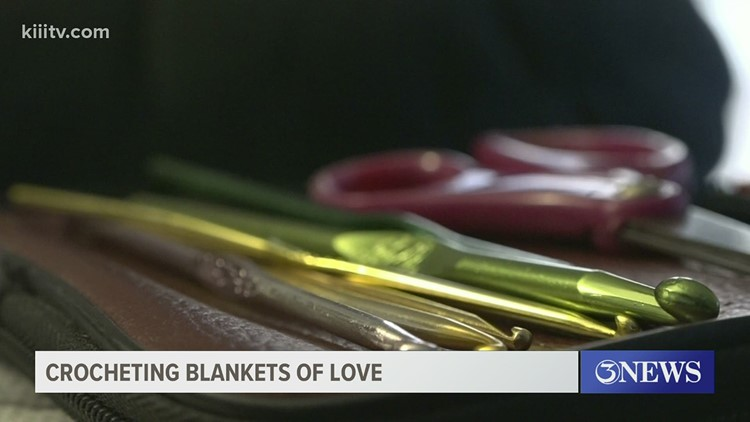 Local resident uses her crocheting skills to provide blankets of love