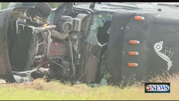 Rollover causes Highway 77 to shut down in Kingsville