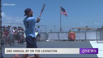 Hooks 2nd Annual Batting Practice atop the USS Lexington - 3Sports