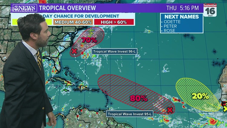 TROPICAL UPDATE: Invests 95/96 have a high chance to develop
