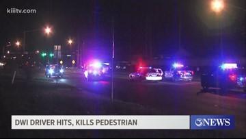 Pedestrian dies after DWI crash