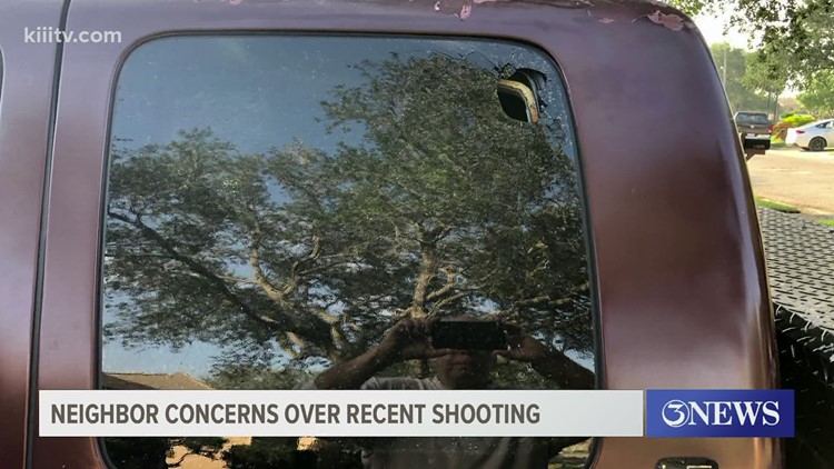 Neighbors assess damage to homes, property following shooting in Corpus Christi
