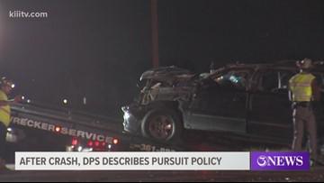 After crash DPS describes pursuit policy