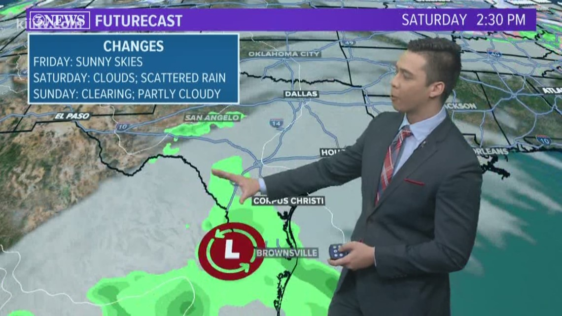 Mostly clear skies into Friday; Increasing rain chances