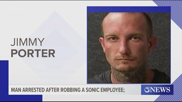 Man arrested after robbing a Sonic employee | kiiitv com