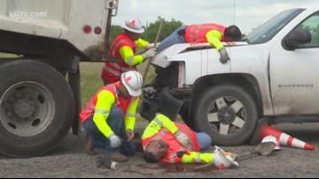 TxDOT, first responders host simulated work zone crash in Woodsboro
