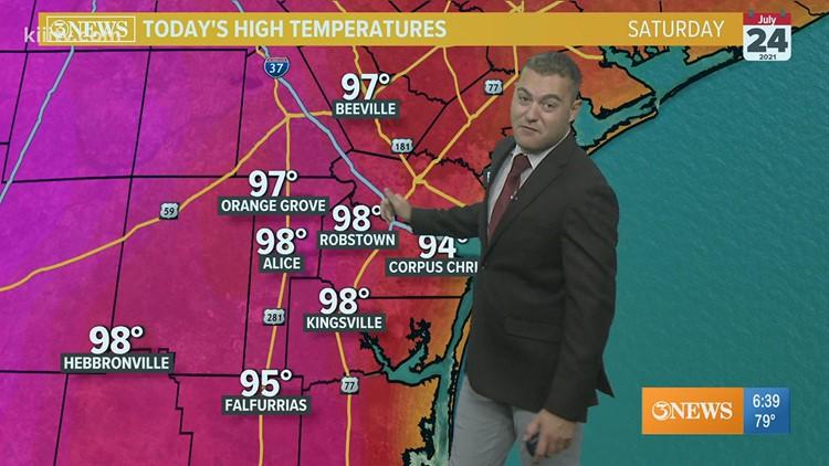 Joe DeCarlo South Texas Weather Forecast 07-24-2021 AM