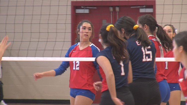 G-P volleyball wins first place game over Veterans Memorial