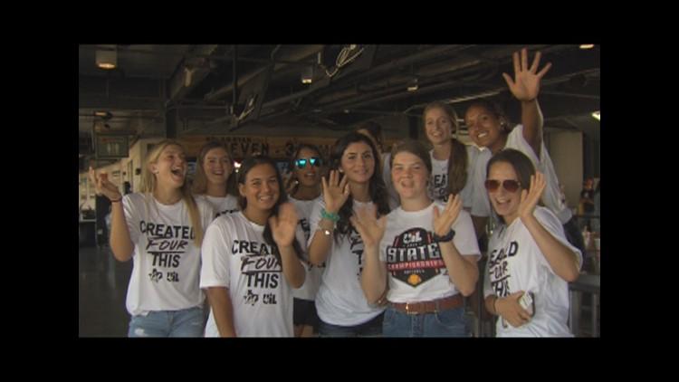Calallen softball recognized before a Hooks win