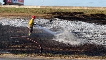 Corpus Christi firefighters extinguish fire along Interstate 37