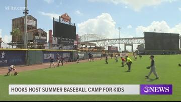 Kids participate in 2019 Corpus Christi Hooks Baseball Camp