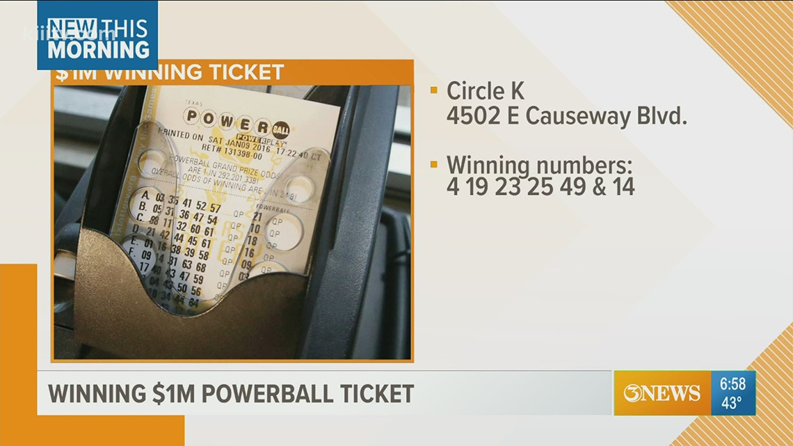 Check your tickets: Powerball ticket worth $1 million sold in Corpus Christi