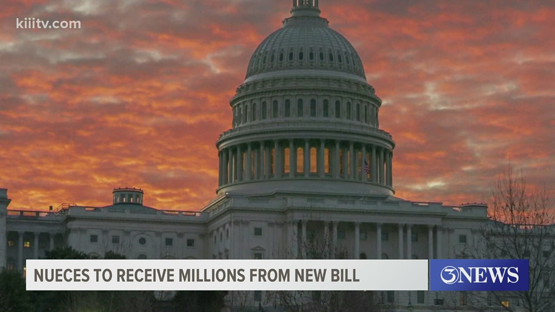 Nueces County could receive millions of dollars if the $1.9 trillion relief bill is passed