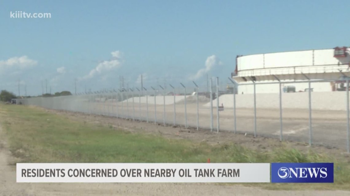 Residents in Annaville concerned over nearby oil tank farm