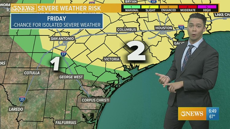 THURSDAY FORECAST: Cloudy skies, more humidity and isolated showers