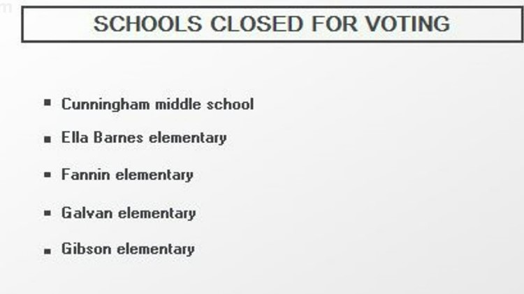Multiple CCISD schools cancel in person learning due to election day