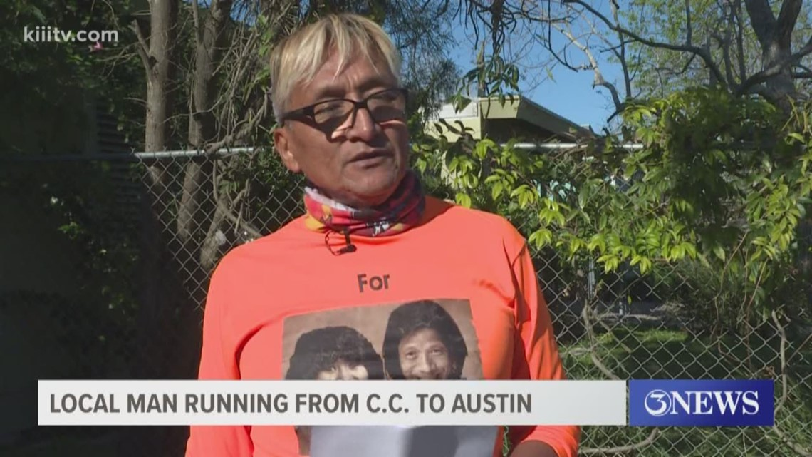 Man to run from Corpus Christi to Austin in honor of late siblings