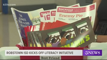 Author visits students to kick off Robstown ISD literacy initiative