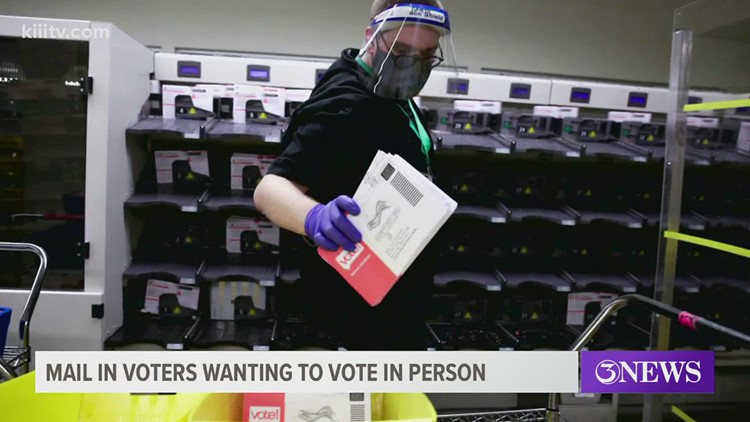 Mail-in voters deciding to vote in person are running into some snags. Here's how to avoid that.