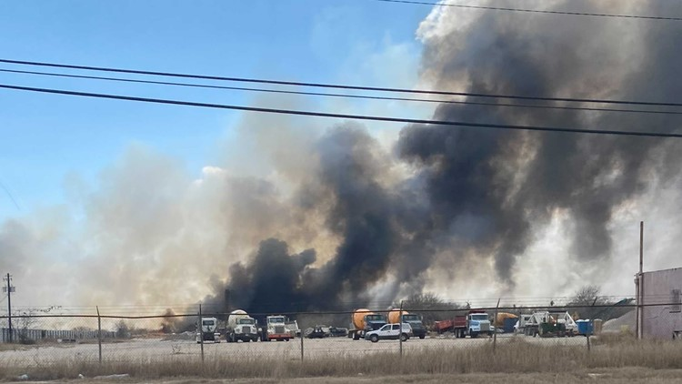 Corpus Christi and Annaville Fire Departments  put out large brush fire Saturday afternoon