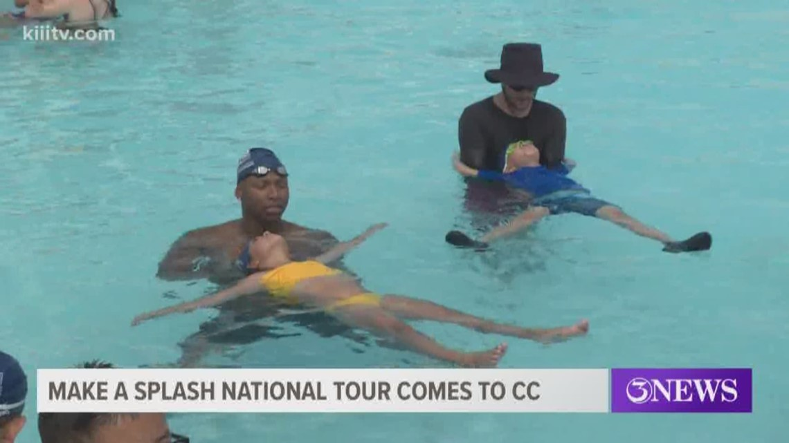 Olympians visit Corpus Christi for 'Make a Splash' national tour