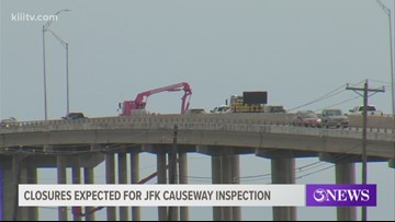 Lane closures on JFK Causeway as TxDOT inspects bridge