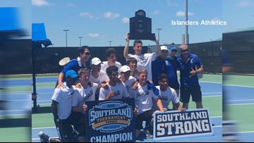 Islanders Men's Tennis wins 2019 Southland Conference Tournament