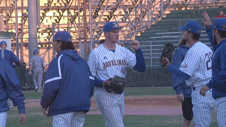 02-14-20 - Javelinas baseball beats Lubbock Christian Matthew Sesler